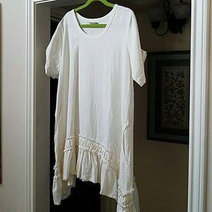 Dresses & Skirts - Linen long top, or just a little dress!